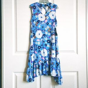 NWT Kandy Kiss Floral-Print Trapeze Choker Dress